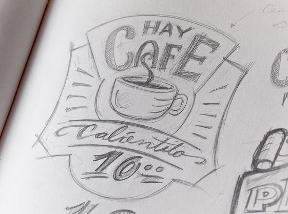 Café calientito_boceto inicial